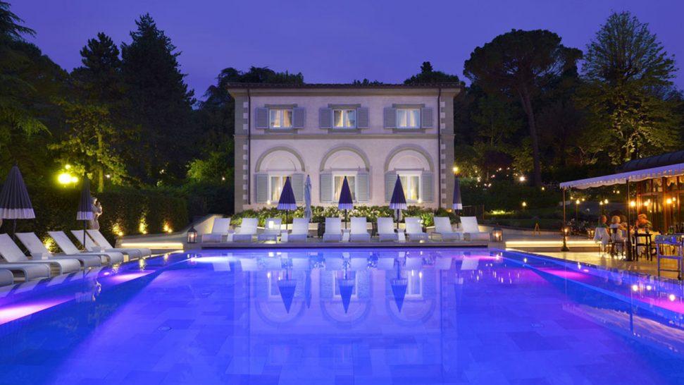 Villa Cora Night Pool View