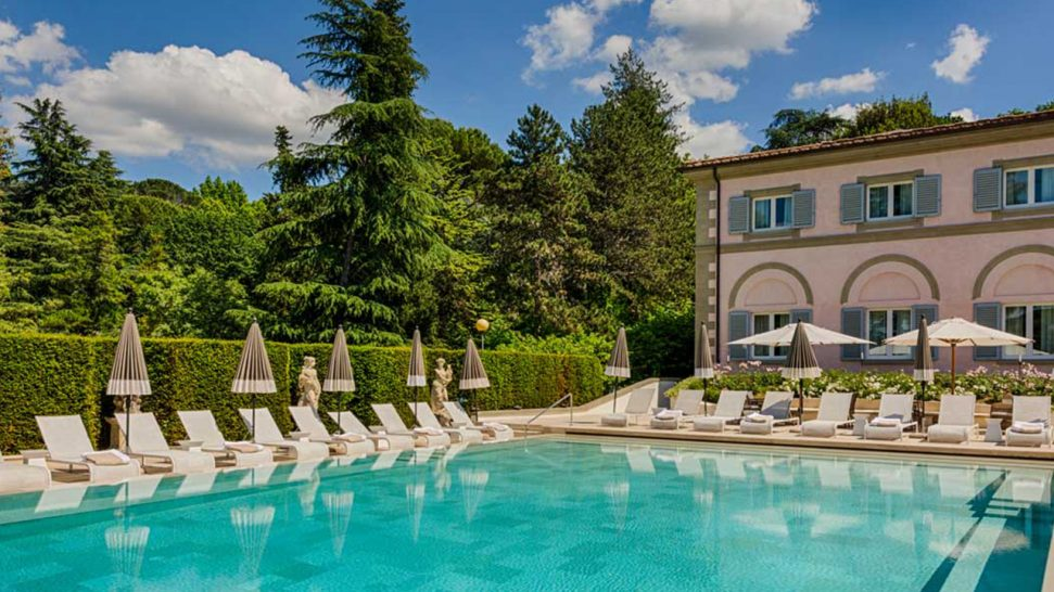 Villa Cora Outdoor Pool View