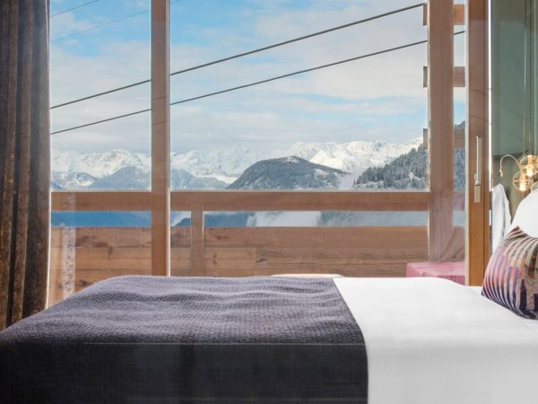 W Verbier Cozy Junior Suite, 1 King, Sofa Bed, Mountain View, Top Floor, Fireplace, Balcony