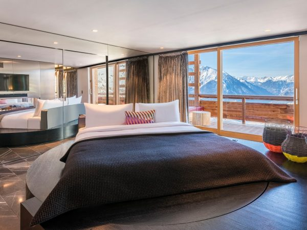 W Verbier Extreme Wow 2 Bedroom Presidential Suite, Best Valley View, Top Floor, Fireplace, Balcony
