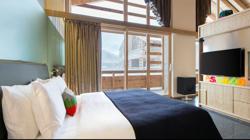 W Verbier Spectacular Penthouse Suite, 1 King, Sofa Bed, Mountain View, Top Floor, Fireplace, Balcony