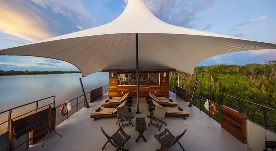 Aqua Expeditions Aria Amazon Outdoor Lounge Deck