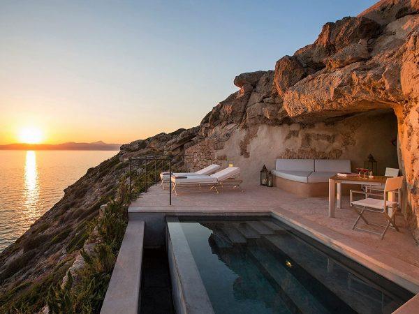 Cap Rocat Mallorca Sentinel suite pool sunset