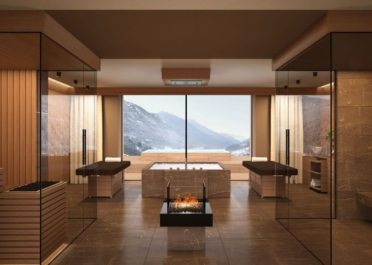 Lefay Resort and Spa Dolomiti Royal pool and spa suite