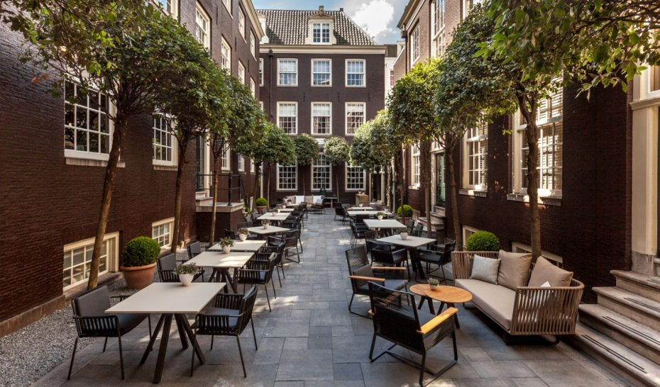 The Dylan Amsterdam courtyard
