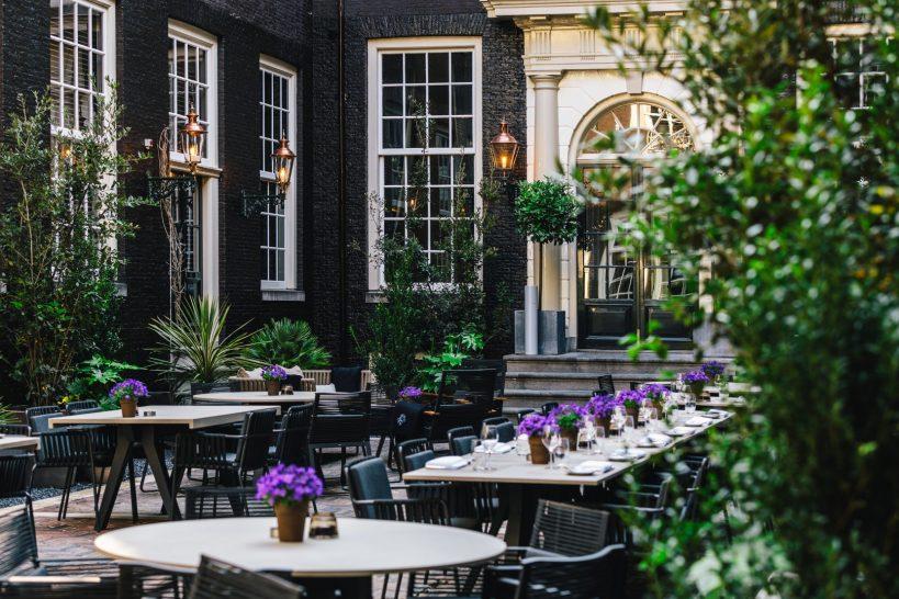 The Dylan Amsterdam courtyard restaurant