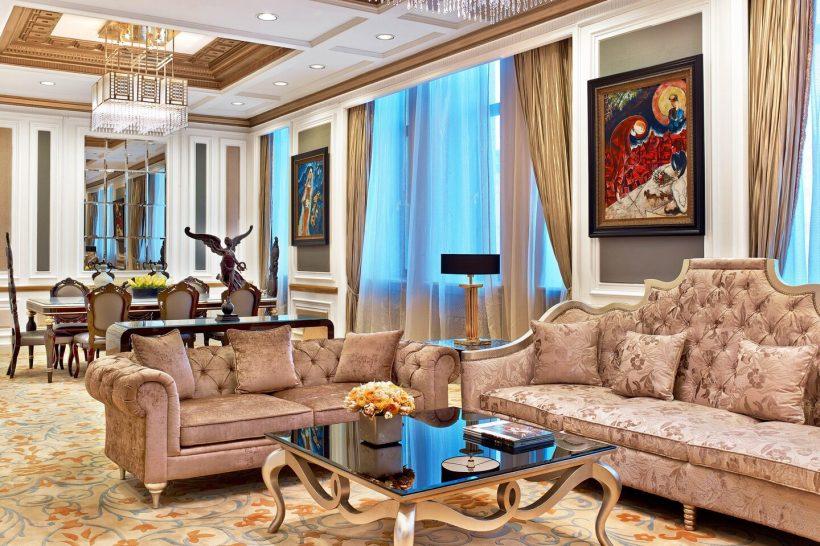 The St. Regis Moscow Nikolskaya Presidential Suite Living Room