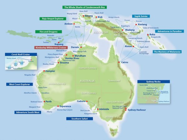 True North Adventure Cruise route map