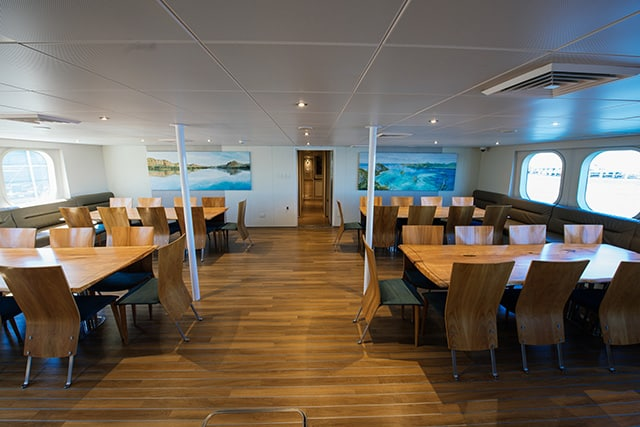 True North Adventure Cruises Dining Room