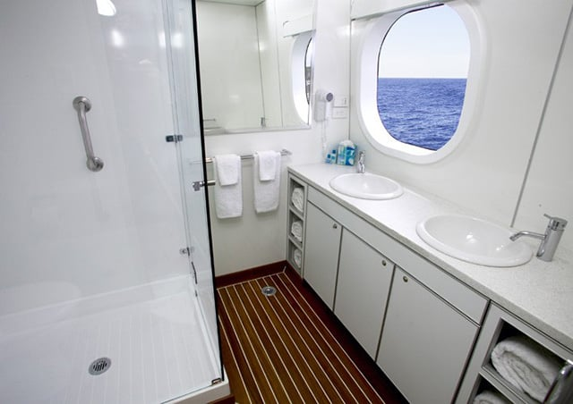 True North Adventure Cruises Explorer Class bathroom