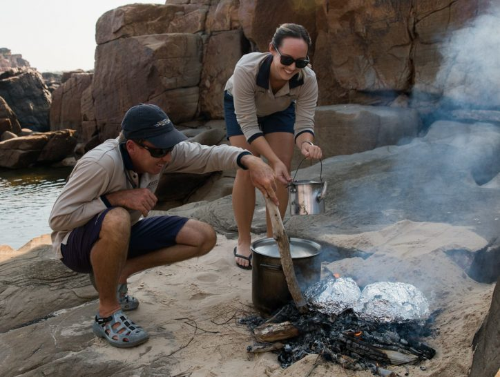 True North Adventure Cruises bush cooking