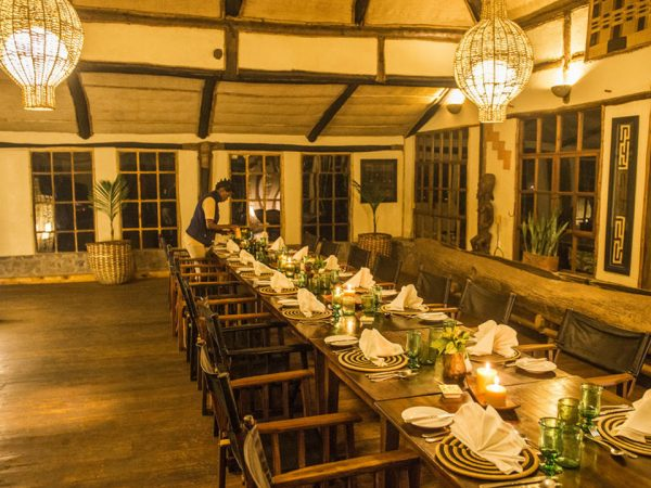 Virunga Lodge Dian Fossey Map Room