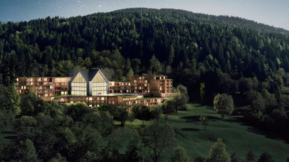 lefay resort & spa dolomiti, Italy Hotel Night View