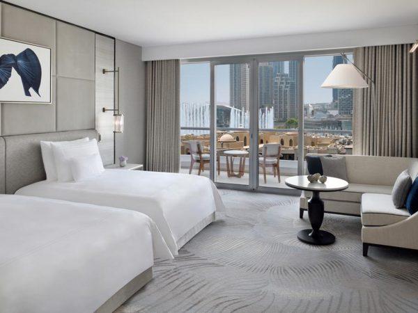 Address Downtown Dubai Premier Fountain View Twin Rooms