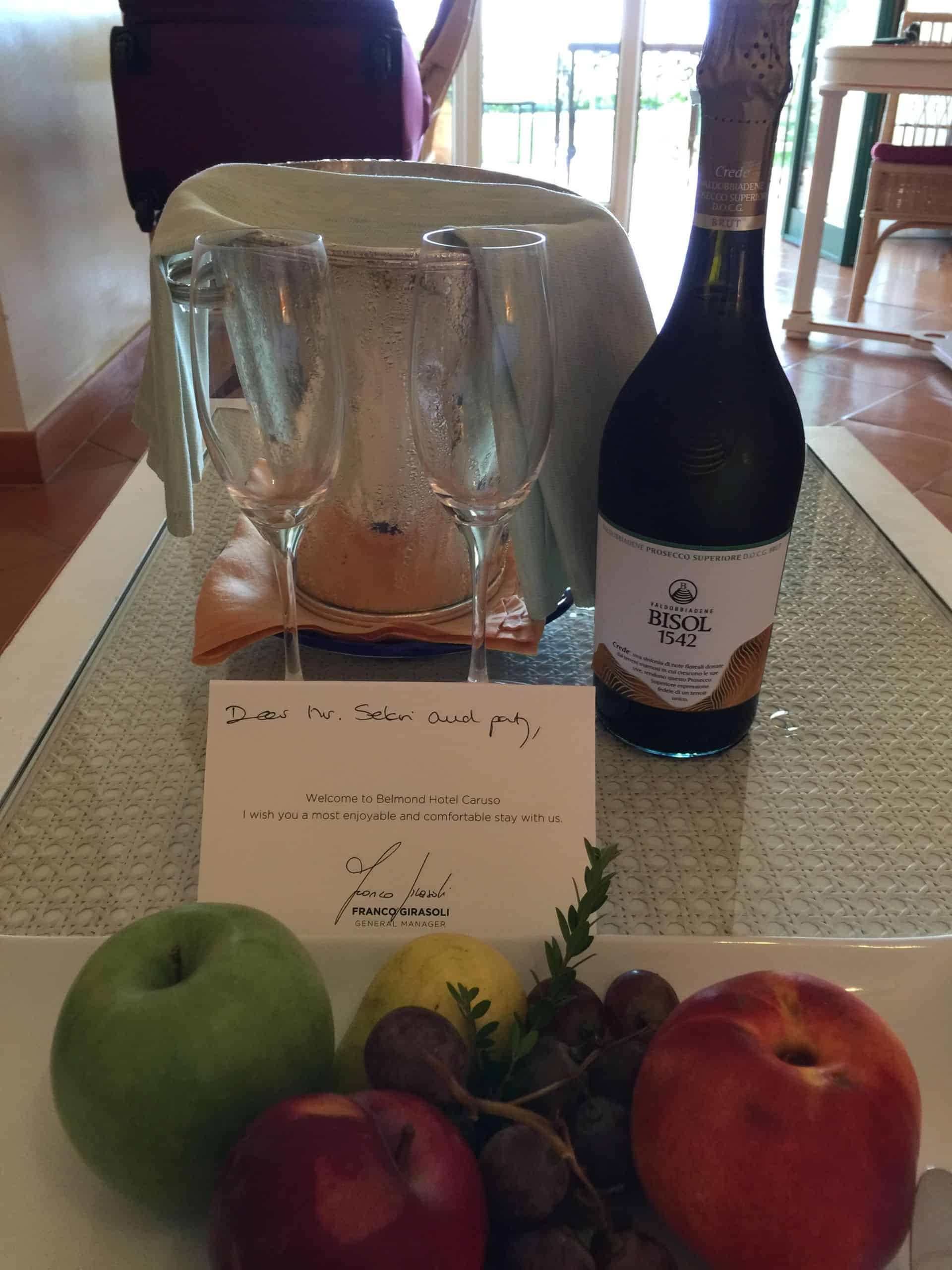 Belmond Hotel Caruso Welcome Amenity