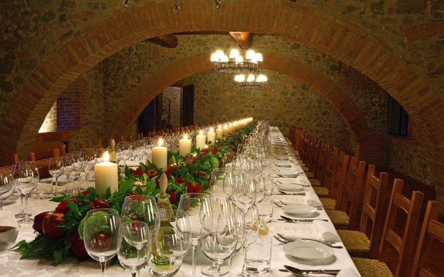 Castello Banfi Il Borgo Wine Cellar Dining