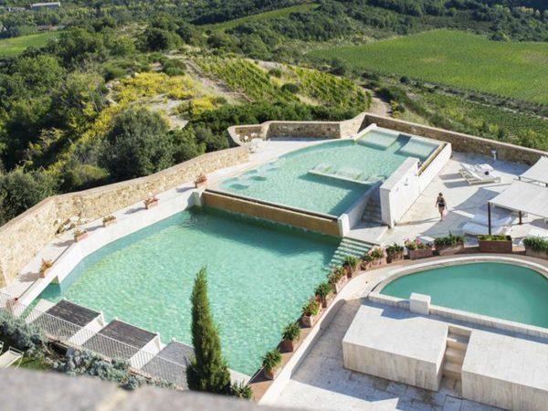 Castello Di Velona Pool TOp View