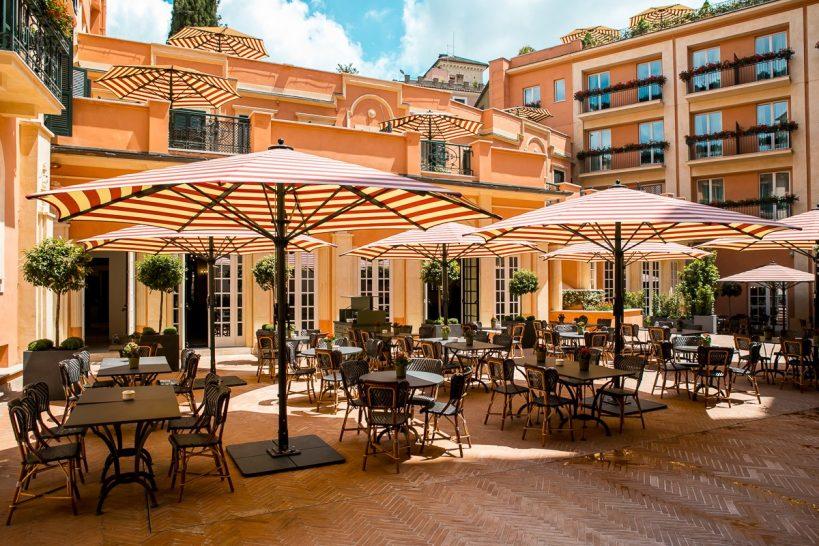Hotel De La Ville Rome Cielo Bar Mosaico