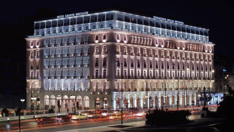 Hotel Grande Bretagne Exterior Night View