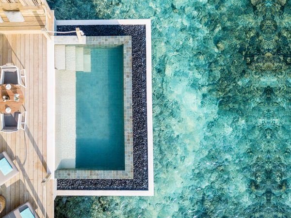 InterContinental Maldives - Outdoor Pool Deck - Lagoon Pool Villa (aerial view)