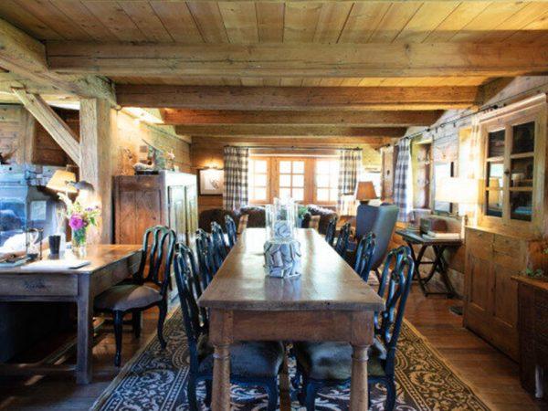Les Fermes de Marie The dinig room