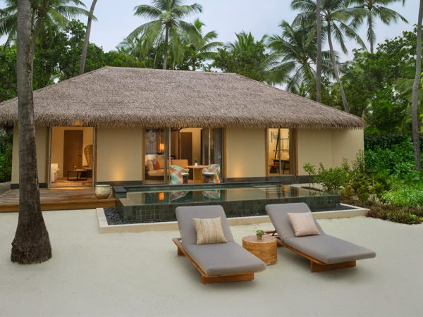 (NEW) InterContinental Maldives - Beach Villa Outside view