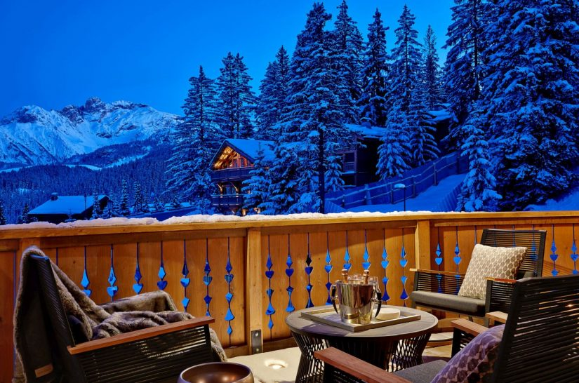 Six Senses Residences Courchevel Balcony