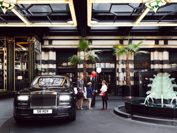 The Savoy Hotel London Lobby View