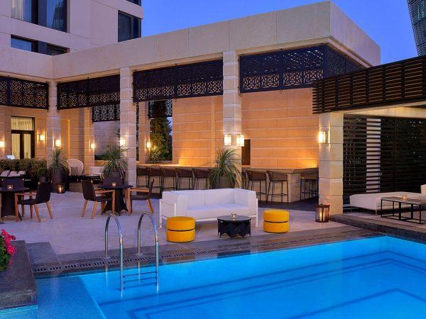 The St. Regis Amman Lobby Pool View