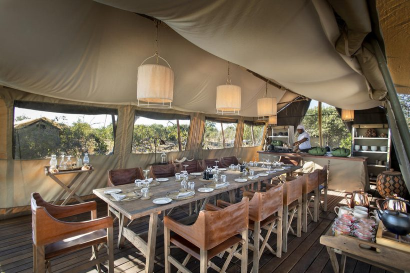 African Bush Camps Linyanti Expeditions Dining Table