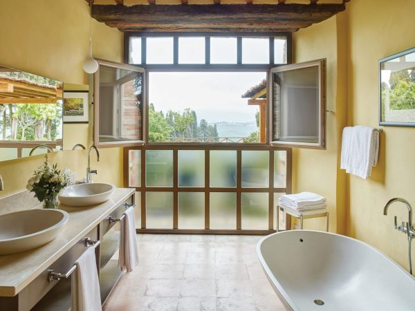 Belmond Castello di Casole Limonaia Suite Bathroom