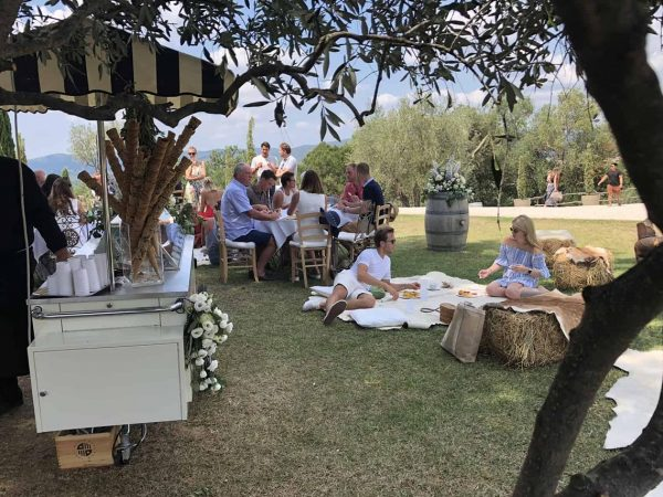 Conti di San Bonifacio Wine and Wellness Retreat Tuscan Picnic With Hay Bales