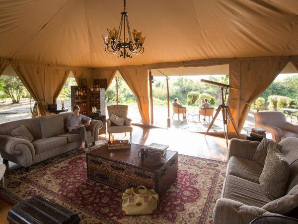 Elewana Sand River Masai Mara Lobby Interior