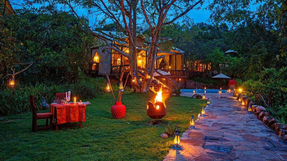Elewana Serengeti Migration Camp Dinnner
