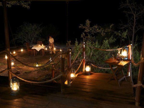 Elewana Serengeti Migration Camp Lobby Night View