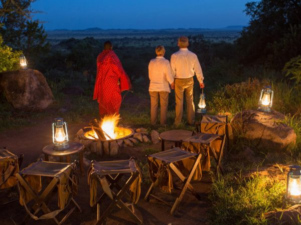 Elewana Serengeti Pioneer Camp Night Dining