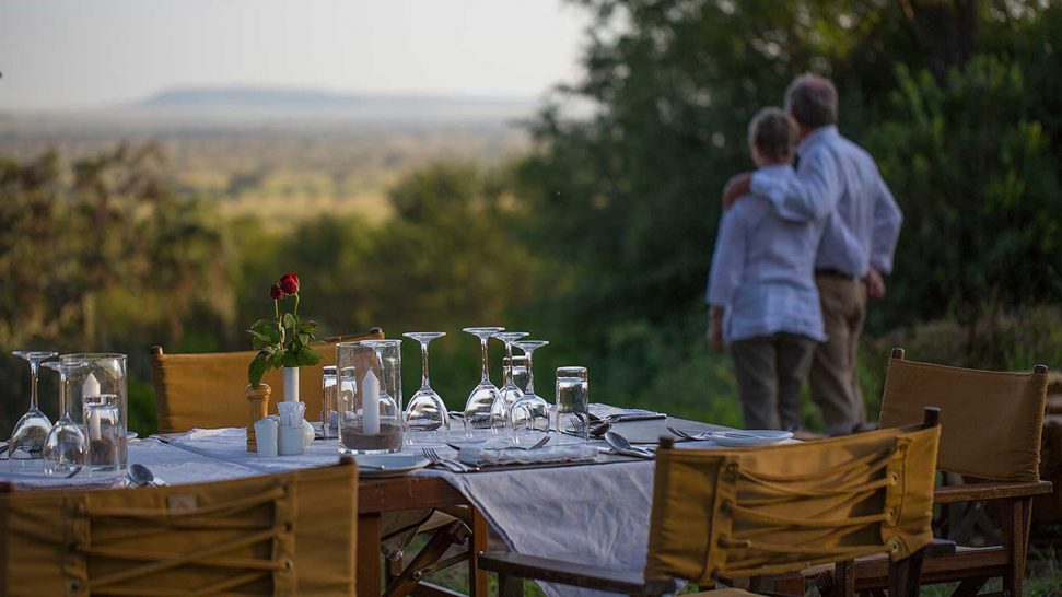 Elewana Serengeti Pioneer Camp Romantic Dining