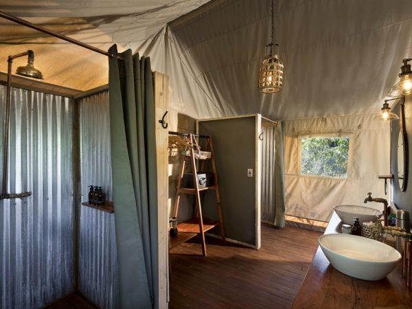 Khwai Tented Camp Bathroom