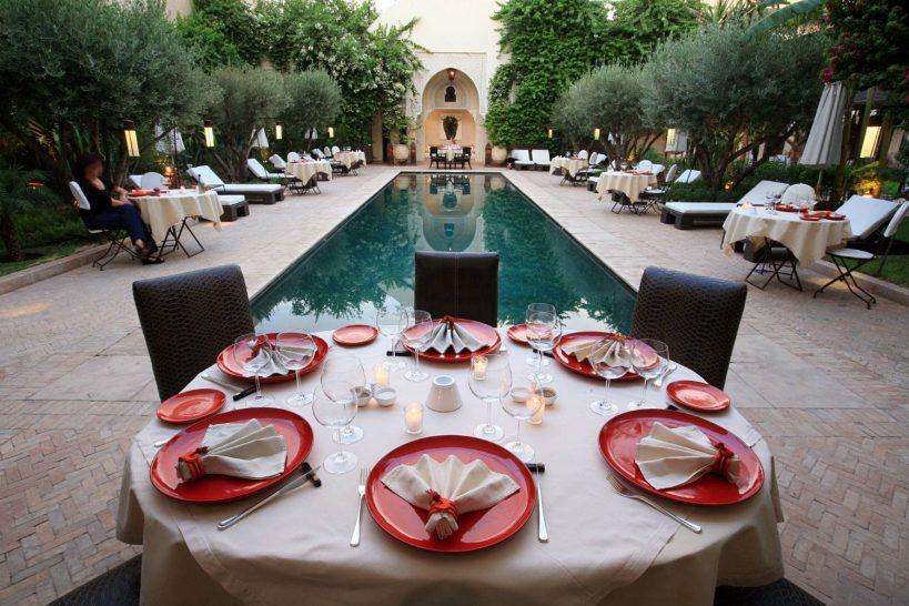 La Villa des Orangers Poolside Dining