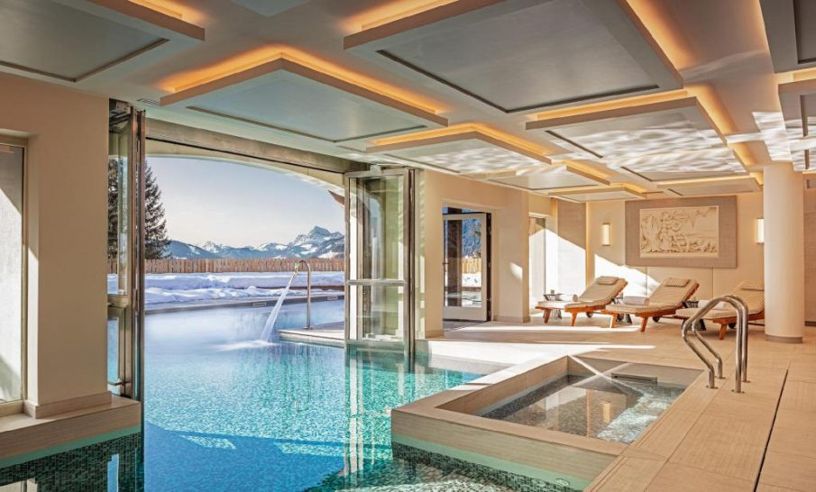 Les Chalets du Mont d Arbois Megeve Four Seasons Hotel Spa Pool