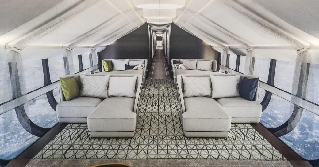 Oceansky Cruises Hybrid Aircraft Airlander Cabin