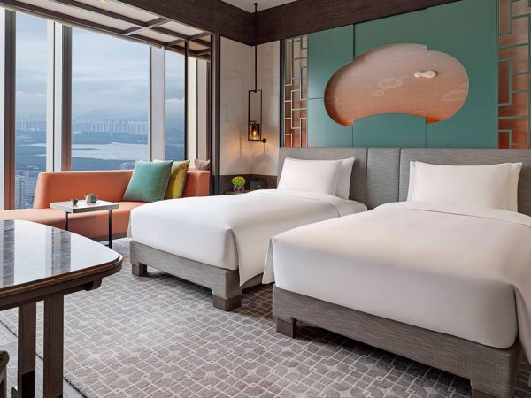 Park Hyatt Shenzhen 2 Twin Beds with Skyline View