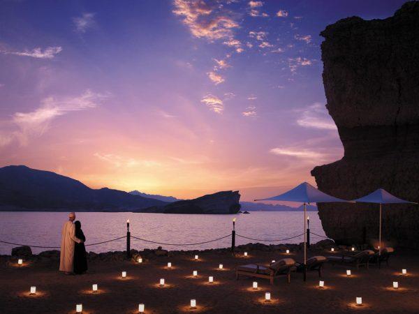 Shangri-La Al Husn Resort and Spa Sunset Beach View