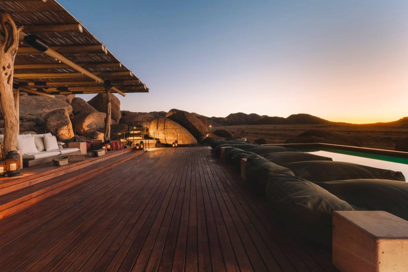Sonop Zannier Hotel Namibia Pool Sunset