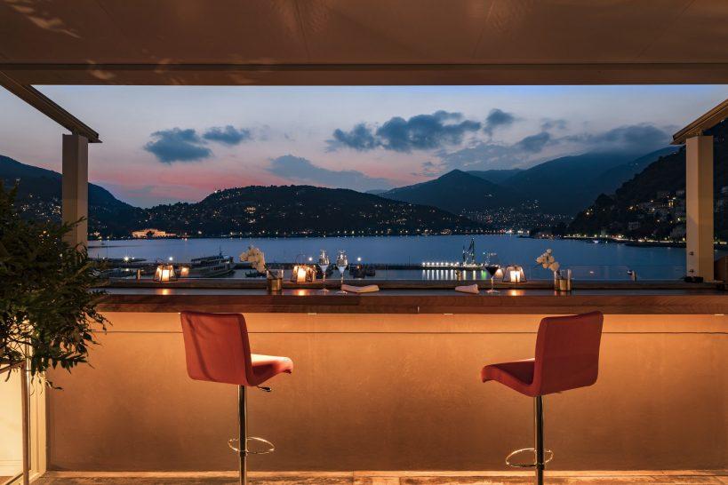 Vista Palazzo Lago di Como Infinity Bar