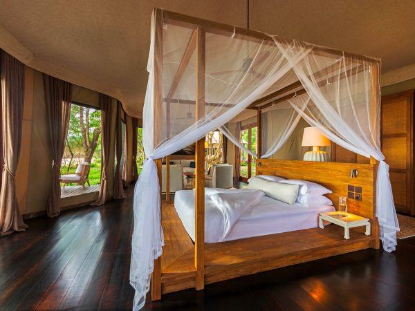 Wa Ale Island Resort Myanmar Tented Beach Villa Bedroom