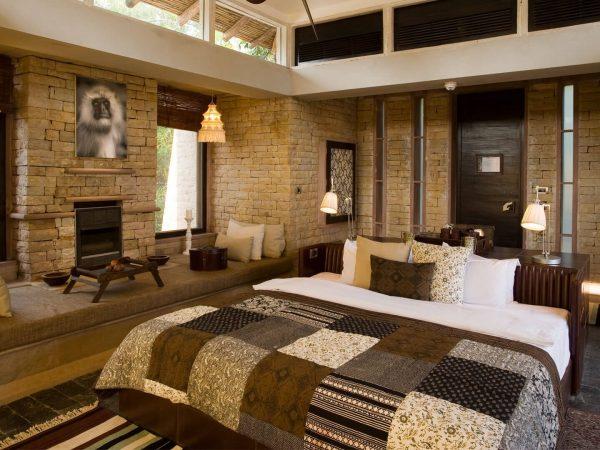 Pashan Garh Taj Safari Lodge Cottage Bedroom