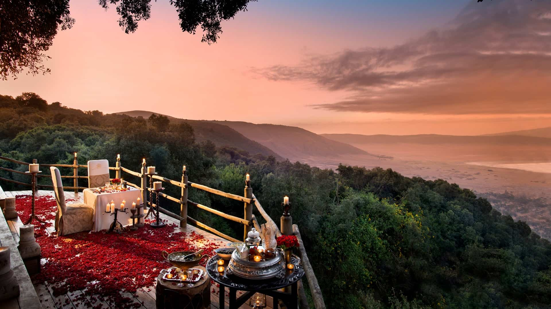 andBeyond Ngorongoro Crater Lodge Romantic Dining