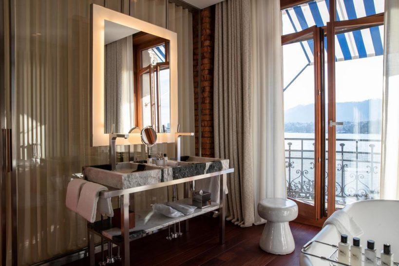 La Reserve Eden Au Lac Zurich Prestige Balcony Bathroom