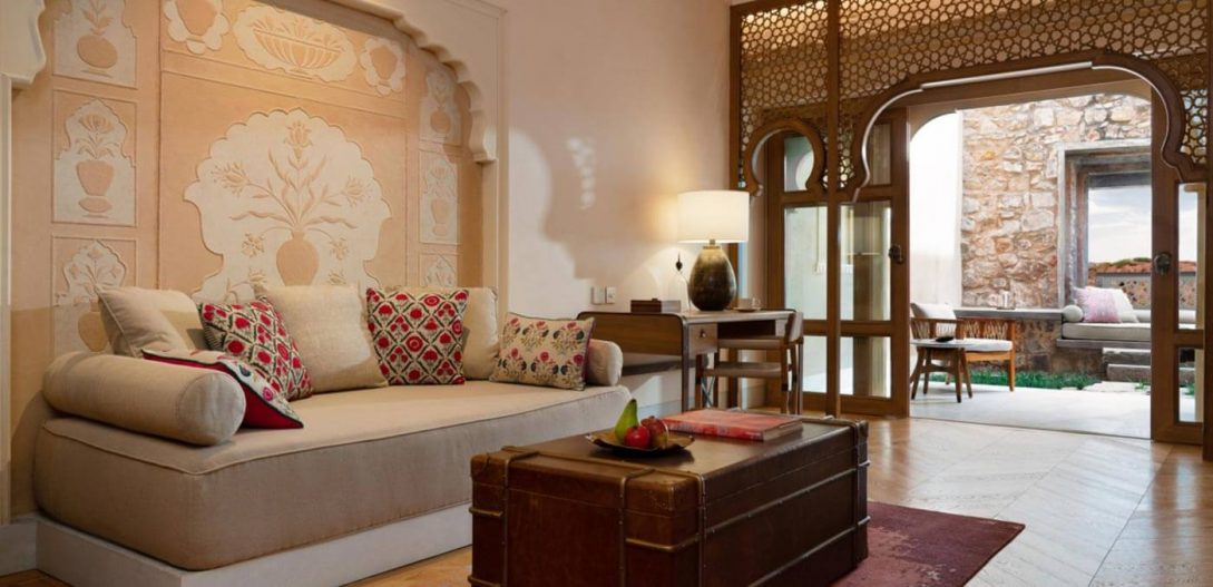 Six Senses Fort Barwara Deluxe Barwara Suite Living Room
